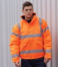 Portwest Hi-Vis Bomber Jacket GO/RT