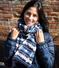 Result Fair Isles Double Layer Jacquard Scarf