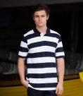 Front Row Striped Cotton Pique Polo Shirt