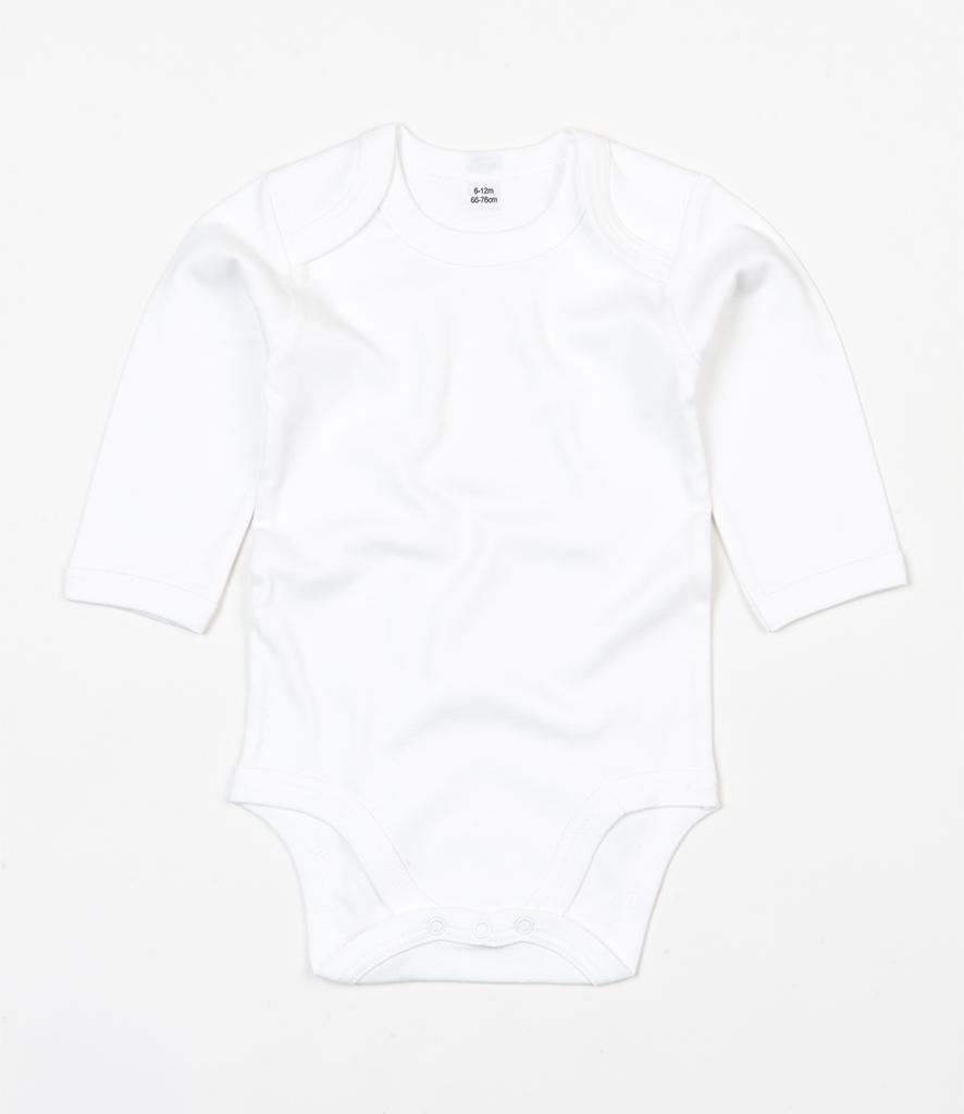 BabyBugz Baby Organic Long Sleeve Bodysuit Unisex 12-18 Months Nautical Navy