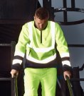 Dickies Hi-Vis Two Tone Zip Neck Top