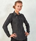 Premier Ladies Jeans Stitch Denim Shirt