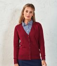 Premier Ladies Cotton Acrylic V Neck Cardigan