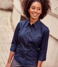 Russell Collection Ladies 3/4 Sleeve Tencel® Fitted Shirt