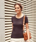 Russell Collection Ladies Short Sleeve Stretch Top