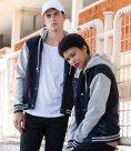 SF Unisex Detachable Hood Baseball Jacket