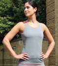 Spiro Ladies Stringer Back Marl Vest