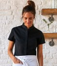 Bargear Ladies Short Sleeve Tailored Mandarin Collar Shirt