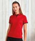 Premier Ladies Contrast Coolchecker® Piqué Polo Shirt
