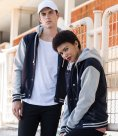 SF Unisex Detachable Hood Baseball Jacket