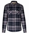 Kariban Sherpa Lined Checked Shirt Jacket