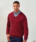Premier Knitted Cotton Acrylic V Neck Sweater