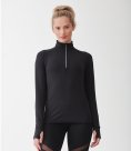 Tombo Ladies Long Sleeve Zip Neck Performance Top